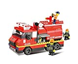 Sluban Building and Construction Blocks Sluban Building & Construction Blocks M38-B0220 Fire Engine Building Block Construction Set ( 281 Bricks ) Building Blocks