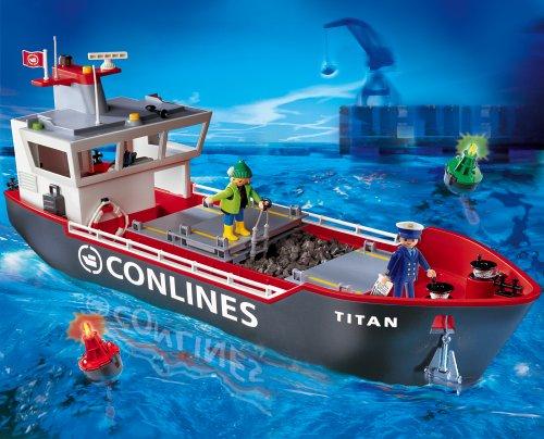 Playmobil 4472 Großes Containerfrachtschiff Amazon De Spielzeug