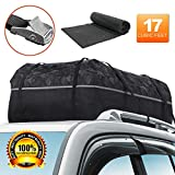 YOULERBU Roof Bag & Rooftop Cargo Carrier Bag with Reflective Fabric Waterproof Cargo Bag with Metal Buckles Fit for Cars with/Without Racks 17 Cubic Feet