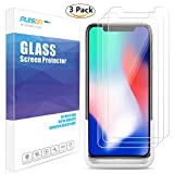 iPhone X Screen Protector, PLESON [3-Pack] [Case Friendly] iPhone X Tempered Glass Screen Protector with Easy Installation Tool, 2.5D Bubble-Free HD Glass Screen Protector for Apple iPhone X iPhone 10