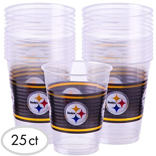 NFL (AFC) Licenced 16oz Party Cups - 25 Pack - Choose Team from SteelerMania