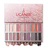 Ucanbe Cosmos Nude Eyeshadow Palette, Pro Matte Shimmer Glitter 20 Eye shadow Makeup Highly Pigmented Long Wear Waterproof (Naked)