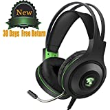 Gaming Headset with Microphone for PC/ PS4/ Laptop/Xbox one, Over Ear Gaming Headphones,Gamer Headset,Volume Control,Noise Canceling,LED Light 3.5mm Jack