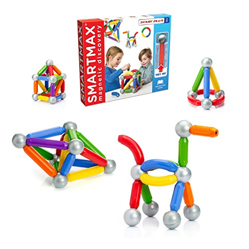 SmartMax Start Plus (30 pcs) STEM Magnetic Discovery Building Set Featuring Safe, Extra-Strong, Oversized Building Pieces for Ages 3+