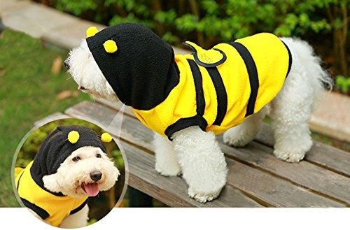 Dog Bumble Bee Antenna Cat Pet Costume Clothes Coat Suit Polar Wings Puppy (L) (Bumblebee Suit)