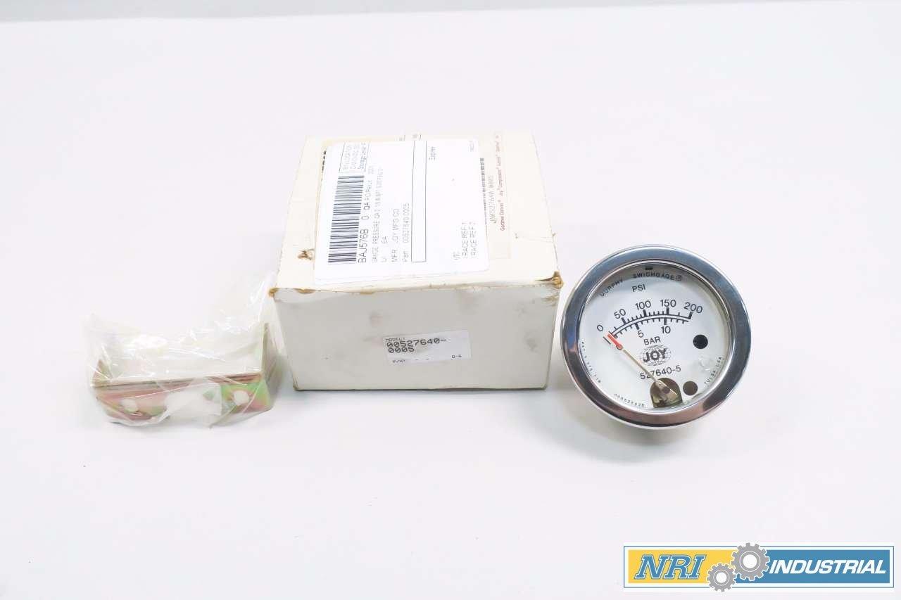 JOY 00527640-0005 MURPHY SWICHGAGE 0-200PSI PRESSURE GAUGE D538111: Amazon.com: Industrial & Scientific