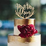 Wooden Mr & Mrs wedding cake topper, rustic cake topper, modern Mr and Mrs cake decoration, choose the wood