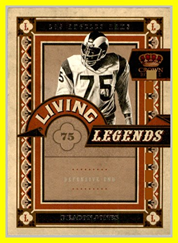 2010 Crown Royale Living Legends #7 Deacon Jones LOS ANGELES RAMS