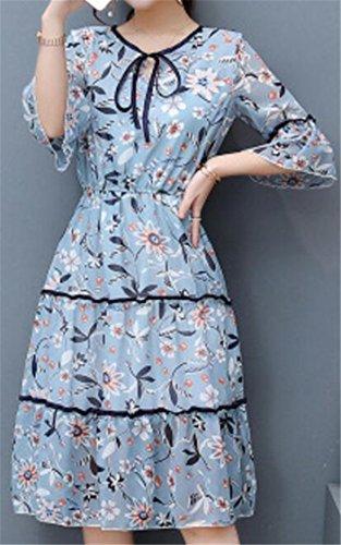 La Mode Jaycargogo Des Femmes Floral En Mousseline De Soie À Manches Courtes Robe Club Ébouriffé 1