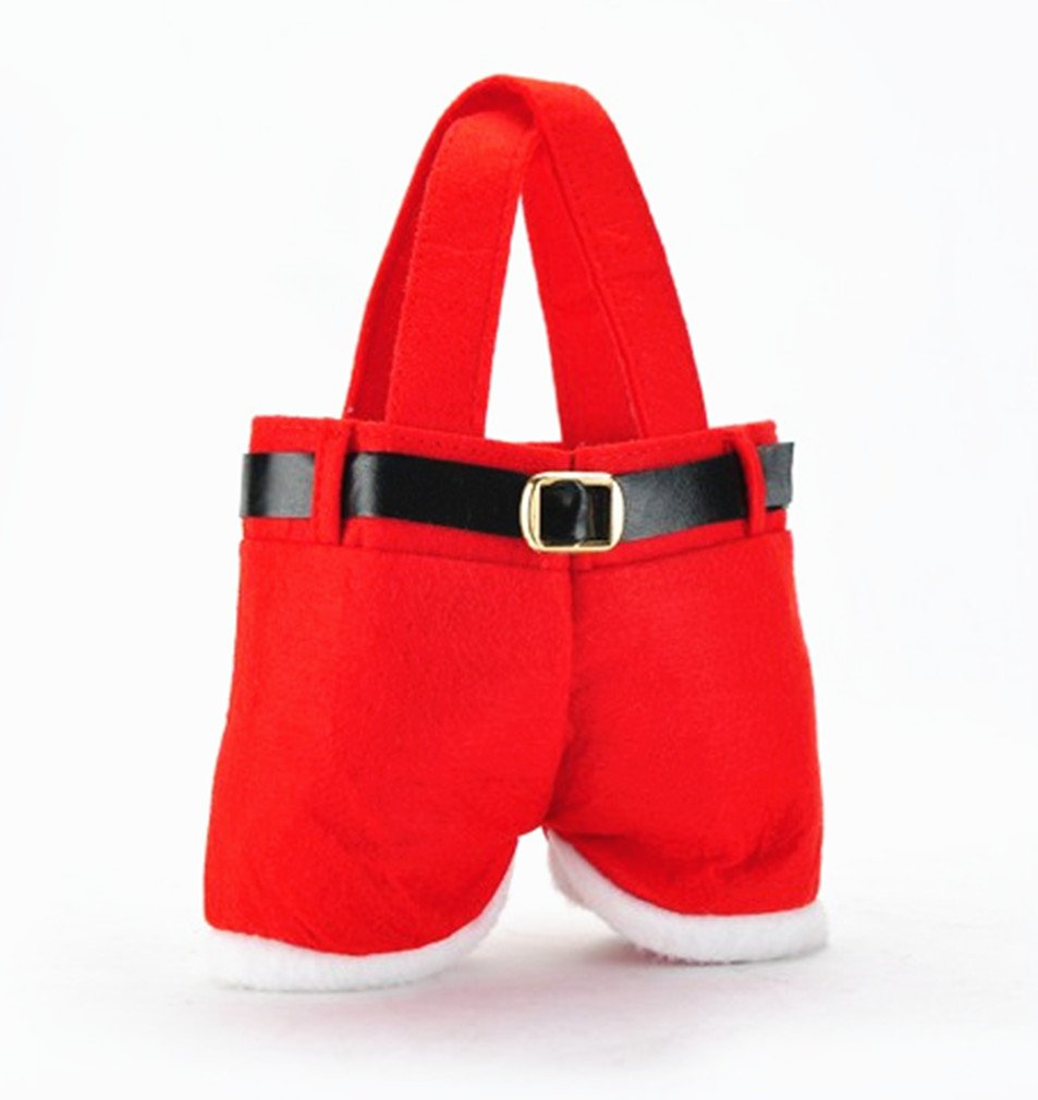 Amazon.com: Dreamy house Set of 6 Santa Pants Gift&Treat Bag ...