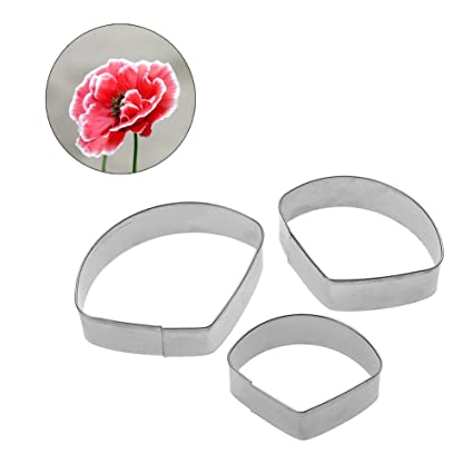 Amazon funnytoday365 stainless flower cake mold poppy petal funnytoday365 stainless flower cake mold poppy petal fondant cake decorating tool biscuit cookie cutter baking sugar mightylinksfo