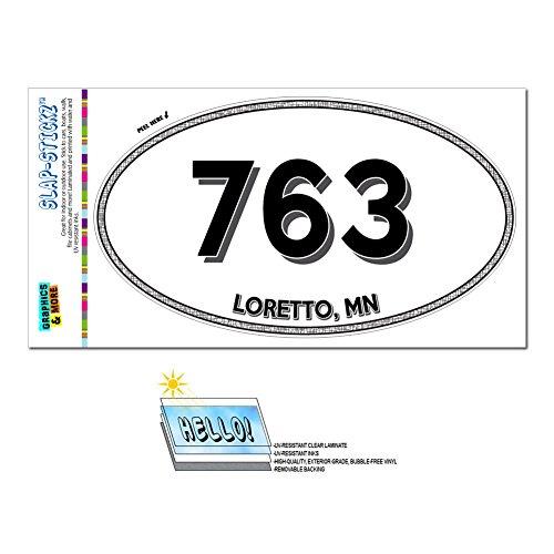 Graphics and More Area Code Oval Window Laminated Sticker 763 Minnesota MN Albertville - Zimmerman - - Albertville Mn