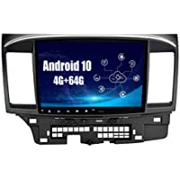 SYGAV Android 10 Car Stereo for 2008-2017 Mitsubishi Lancer EVO X Without OEM Rockford Fosgate AMP Radio with Carplay…