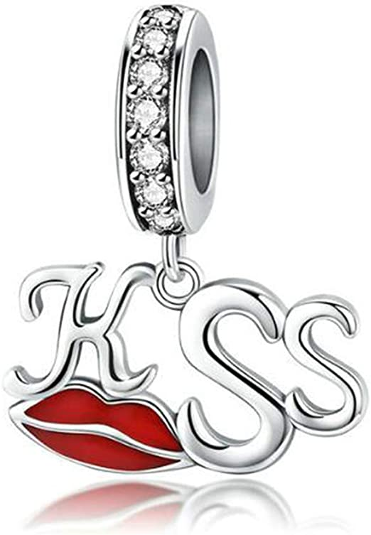 The Kiss All About Love Hearts You Are So Loved 925 Sterling Silver Bead Fits European Charm Bracelet