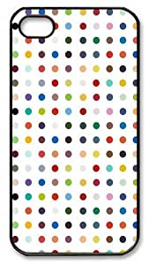 Colorful Circle Custom iPhone 4S Case and Cover - Polycarbonate Plastic - Black