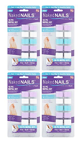 4x Naked Nails 10pc Refill Kit For Manicure Tool As Seen on TV New