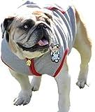 Lou's Doggie Boutique Dog Sweatshirt Hoodie, GRAY, Bulldog Medium
