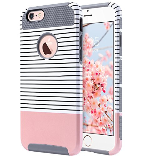 Slim Fit Hybrid Case for Apple iPhone 6/6s (Pink/Black) - 3