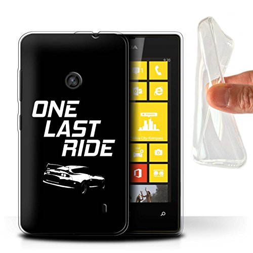 STUFF4 Gel TPU Phone Case/Cover for Nokia Lumia 520 / One Last Ride Design/Street Car Racing Collection