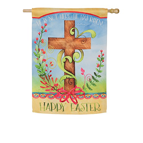 Evergreen Easter Blessing Suede House Flag, 29 x 43 inches For Sale