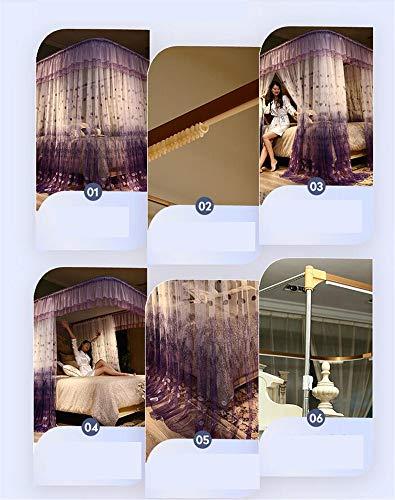 Mosquito net Guide u-Type Floor Stand Mosquito net Three-Door Mosquito net Anti-Mosquito Insect nets encrypted Mosquito net Palace Mosquito net, Purple, 210 180cm by RFVBNM Mosquito net (Image #4)