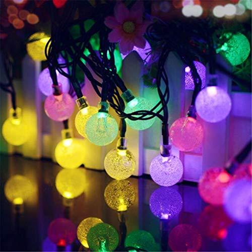 Luces solares de cadena, Luces solares de 20 pies y 30 LED con forma de burbuja, Iluminación de hadas para interiores /...
