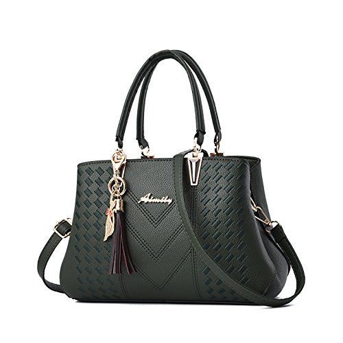 Handbags Sale for Bags Bag Ladies Leather Green Dark Designer Online Shoulder Women Tisdaini wFgt4qvv