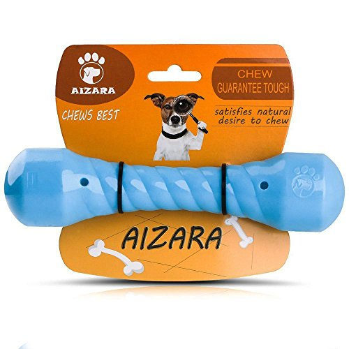 Aizara Durable Dog Chew Toys for Aggressive Chewers Dogs, Indestructible Rubber Puppy Chew Toy for Large Small Dogs - Tough - Floating Dog Bone Toys