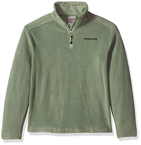 Avalanche Big Boys' Quarter Zip Fleece Pullover, Hedge Green, - Fleece Pullover Zip Quarter