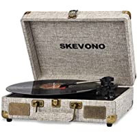 Skevono Vinyl Bluetooth Vintage Record Player with 2 Built-in Speakers