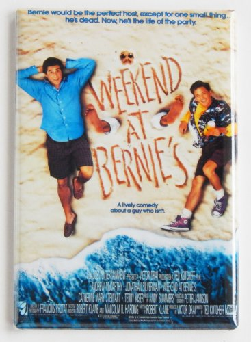 Weekend at Bernie's Movie Poster Fridge Magnet (2 x 3 inches)