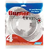 Camco 43800 Stove Burner Liner - 4 pack Quantity 3