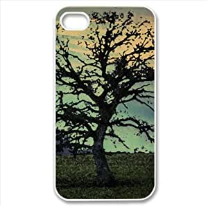 Leafless Tree, HDR Watercolor style Cover iPhone 4 and 4S Case (Landscape Watercolor style Cover iPhone 4 and 4S Case)