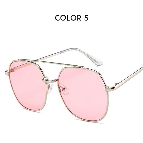 Mash Gordo Gafas Redondas Mujeres Retro Rosa Gafas de Sol ...