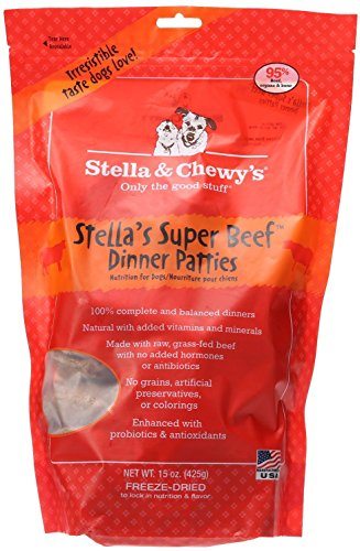 Stella & Chewy's Freeze-Dried Raw Stella's Super Beef Dinner Patties Dog Food, 15 oz. bag