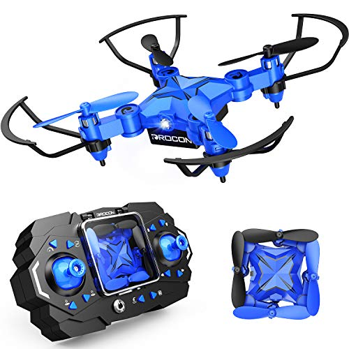 Drone for Kids, DROCON Foldable Mini Drone Beginner RC Quadcopter, Equipped with Altitude Hold/3DFlips/Self-Rotation…