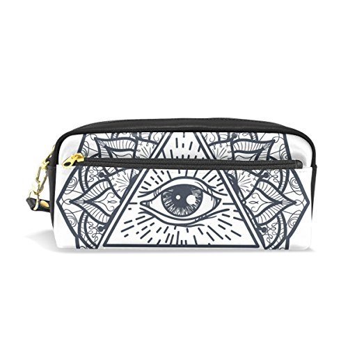 Cooper girl Vintage Mandala Eye Tribal School Pencil Case Travel Makeup Organizer Clutch Bag with (Tribal Eye Makeup)