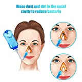 Neti Pot - 300ml Nasal Wash Nasal Irrigation System for Adult & Kid Nasal Care Nose Cleaner Bottle with 30 Nasal Wash Salt Packs and Temperature Sticker