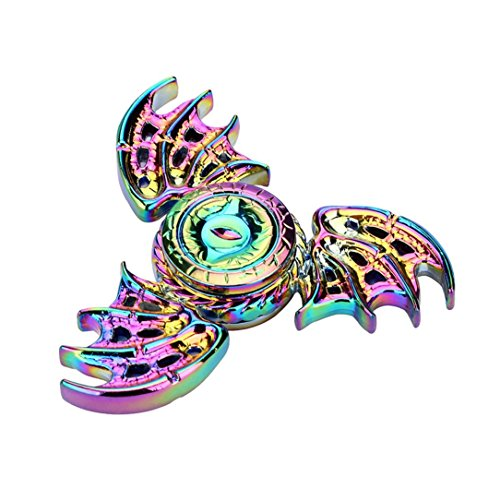 Vanvler New Tri Fidget Hand Spinner Unique Dragon Hand Legend Finger Gyro Focus Educational Toy ADHD Autism Kids/Adult (multicolor)