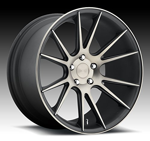 Niche Vicenza 20 Black Flake Wheel / Rim 5x120 with a 20mm Offset and a 72.6 Hub Bore. Partnumber M153200521+20