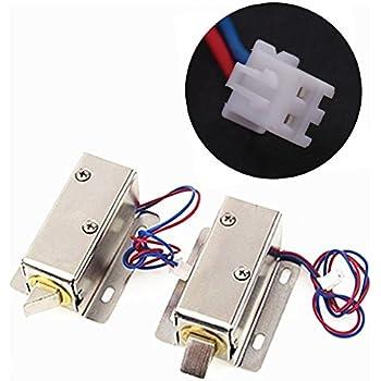 Amazon Com Solenoid Electric Lock Dc 12v Mini Electric