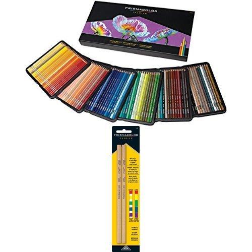 Premier Soft Core Colored Pencils, 150-COUNT And Prismacolor Premier Colorless Blender Pencils, 2-COUNT Bundle
