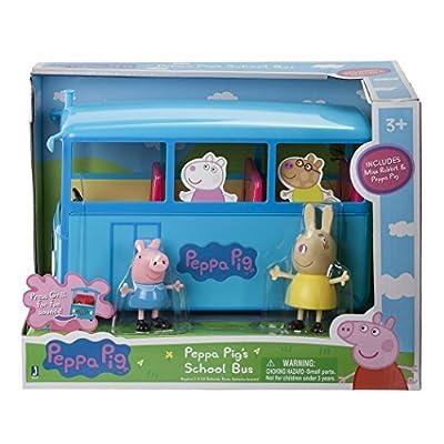 Peppa Pig's School Bus Deluxe Vehicle: Toys & Games