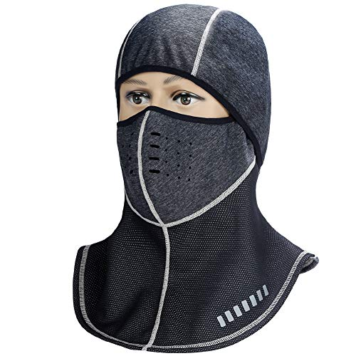 ANSOWQM Balaclava Windproof Face Mask - Dust Protection Unisex Outdoor Sports Mask Helmet Liner Soft Thermal Retention & Moisture Wicking Hood for Cycling,Motorcycle,Skiing & Snowboarding