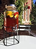 Garden Party Glass Drinks Dispenser With Stand
