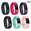 Adepoy Fitbit Charge 2 Bands, Classic Adjustable Replacement Sport Wristbands for Fitbit Charge 2