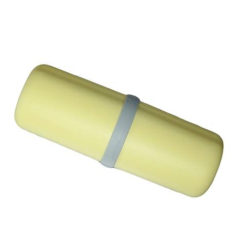 P prettyia cepillos de viaje multifuncional porta cepillo dientes para el camping come descritto amarillo