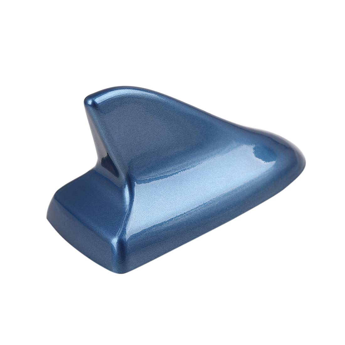 X AUTOHAUX Blue Universal Antenna Roof Shark Fin Shape Adhesive Decorative Aerial for Car