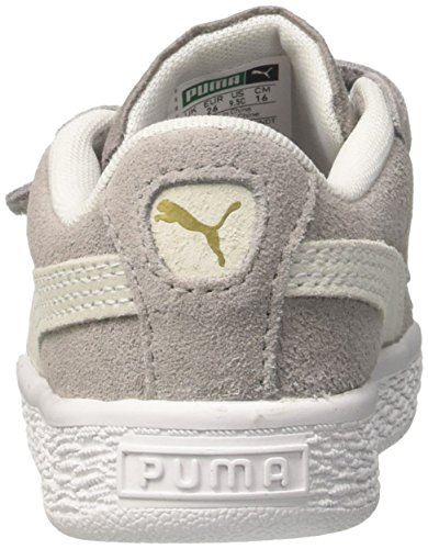 puma White Classic Puma Inf Ash Basses Sneakers V Mixte Enfant Suede Gris RvpwRq1