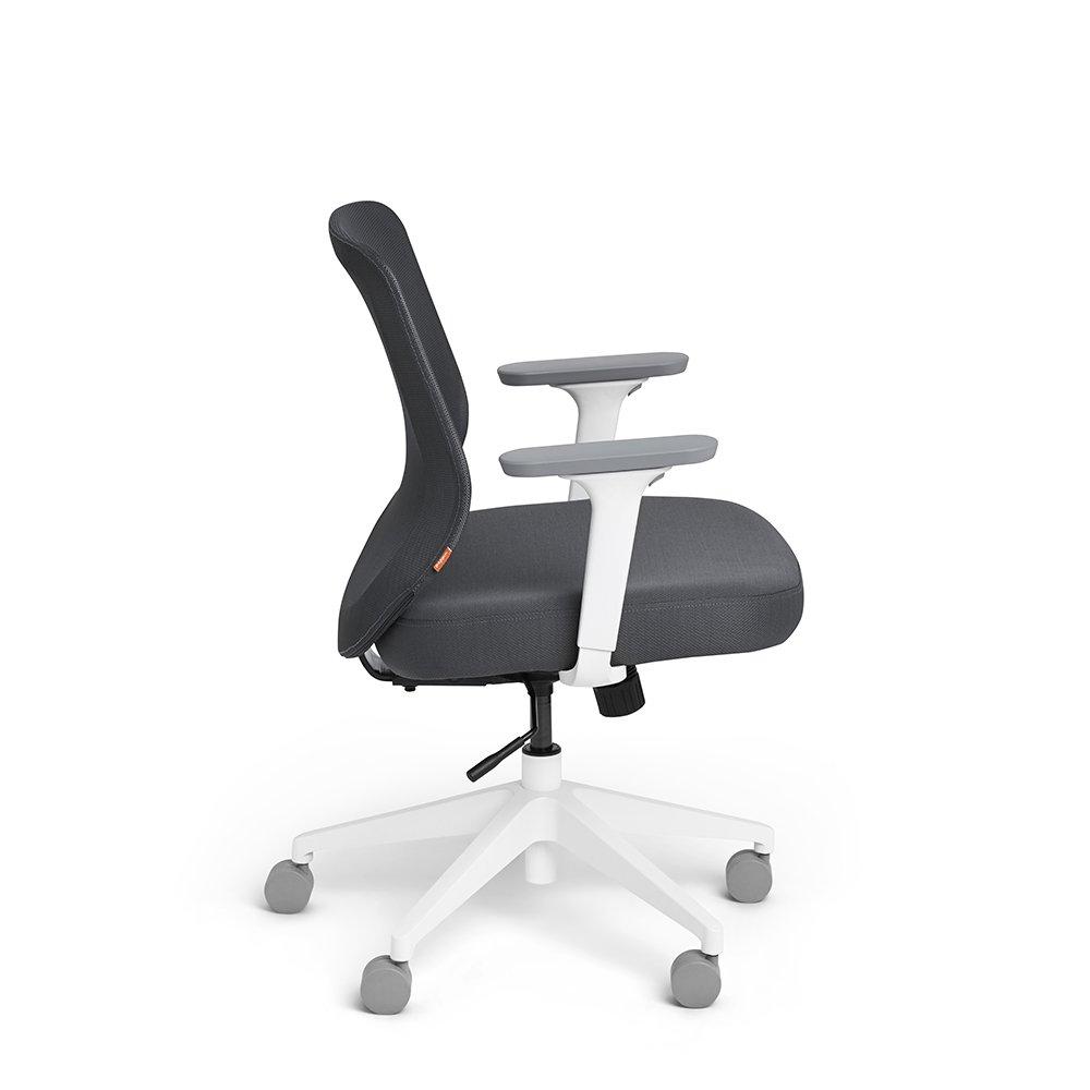 amazon com poppin dark gray max task chair mid back white frame